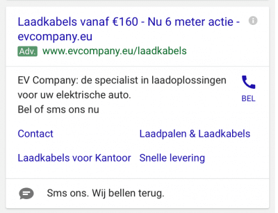 Berichtextensies in AdWords