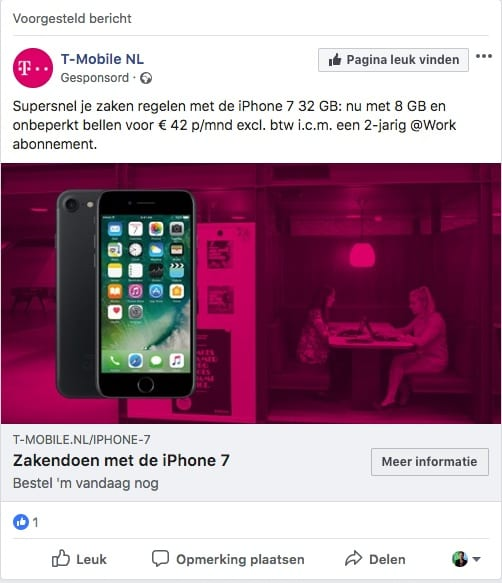 Facebook Ad T-Mobile