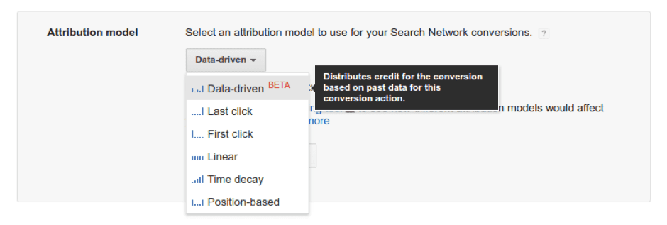 Attributiemodel Google Ads